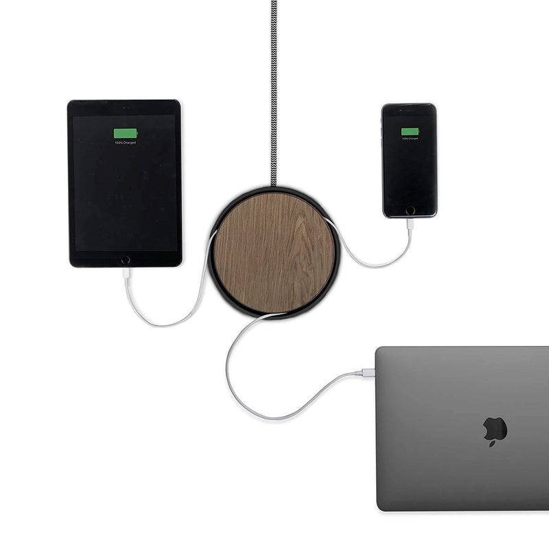 ECLIPSE Native Union - 3 Port USB Charger-(Black-Wood)