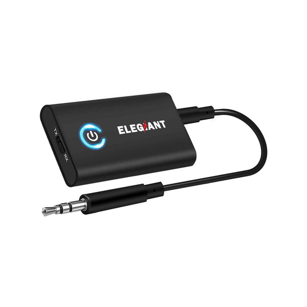 ELEGIANT 2-in-1 Bluetooth 5.0 Transmitter Receiver with 3.5mm AUX - Model: BTI-030 - (Black)