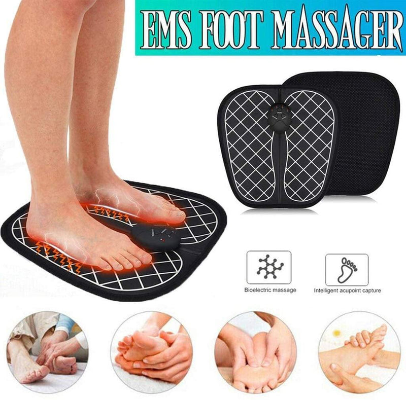 EMS Foot Massage Mat, Foot Promoting Blood Circulation (Black)
