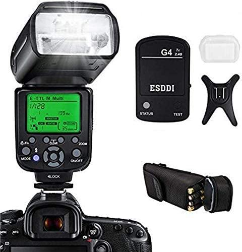 ESDDI Camera Flash Set Include Flash Trigger for Canon DSLR Camera- Model: G4 (Black)