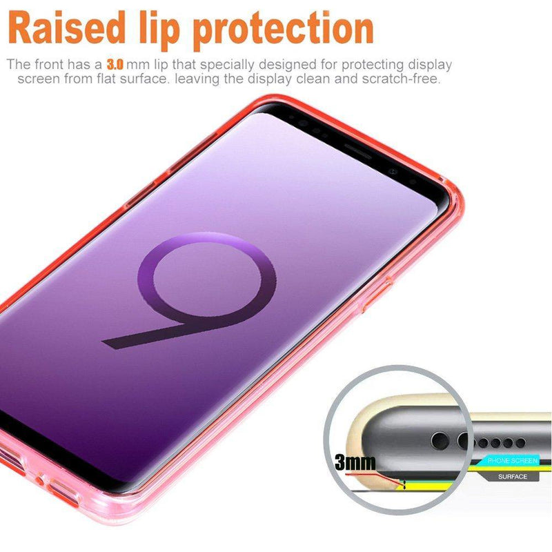 ESR Galaxy S9 Plus Case, Pink Bling Glitter Sparkle Three Layer Shockproof Soft TPU Outer Cover-(Pink)