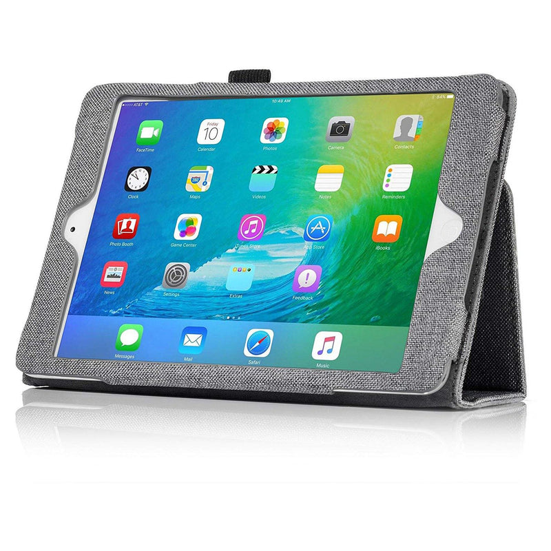 ETEKNIC Oxford Cloth Smart Case for iPad Mini 1-2-3 -(Grey)