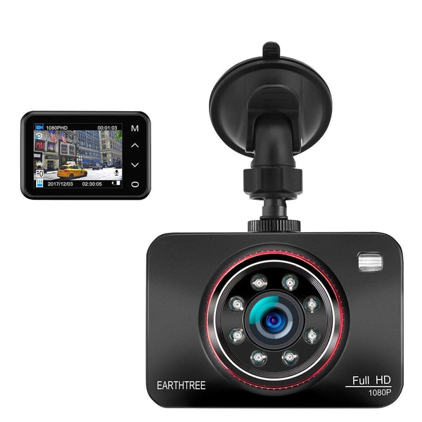 Earthtree Dash Cam,Full HD 1080P Model : DC60 (Black)  (SD Card Not Included) - DealsnLots
