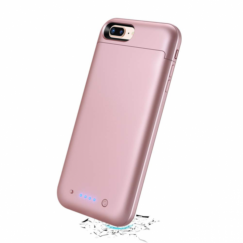 External Battery Case 7000mAh For Iphone 8 Plus-7 Plus (Rose Gold)