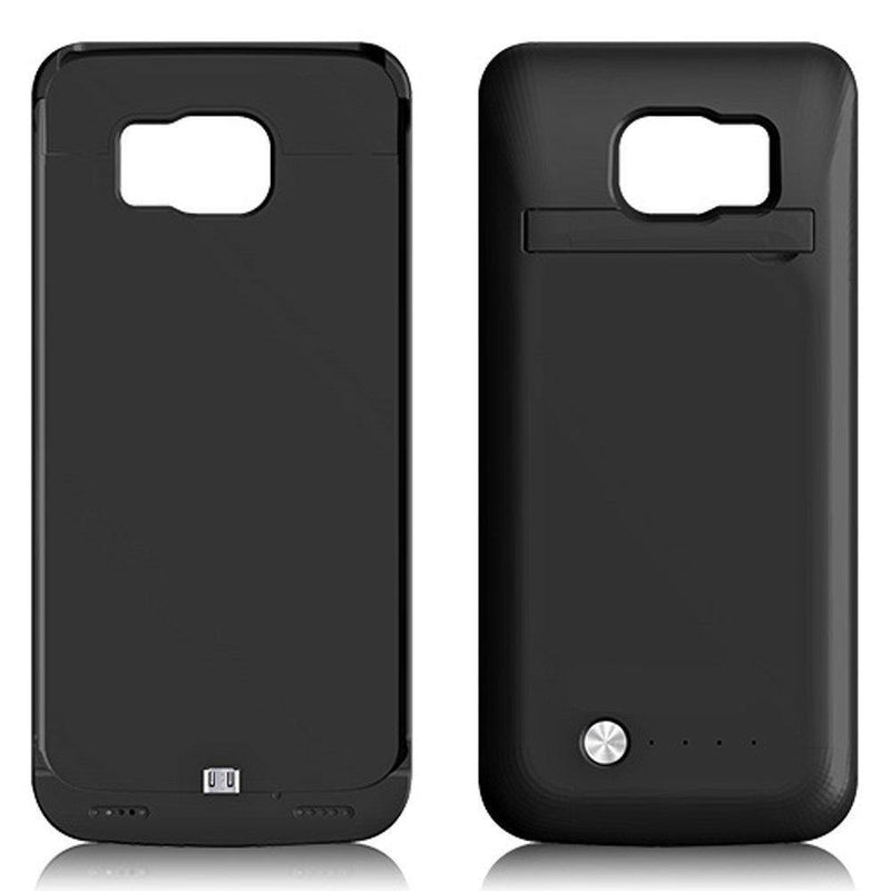 Sykiila External Back Power Bank 4200mah Rechargeable Battery Cover Case For Samsung S6/S6 Edge - (Black)