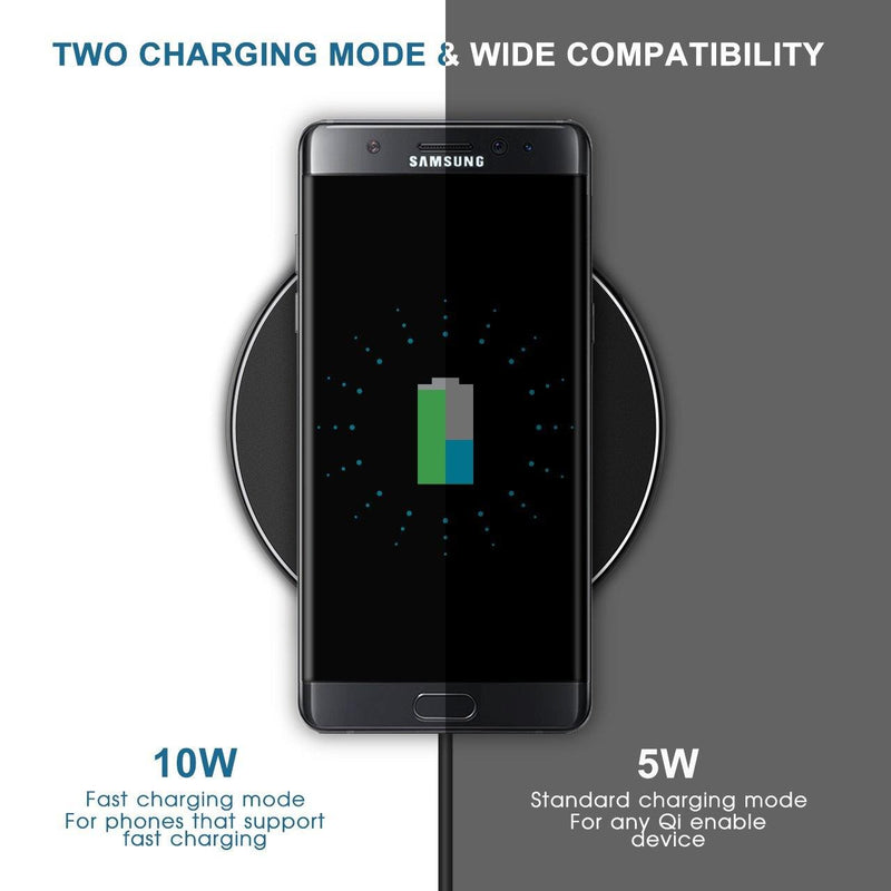 FAST CHARGE Wireless Charger Fast Wireless Charging Pad-Model:GEPA013BB (Black)