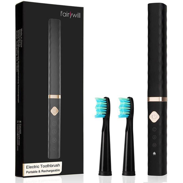 Fairywill 515 Electric Rechargeable Toothbrush 2 Replacement heads