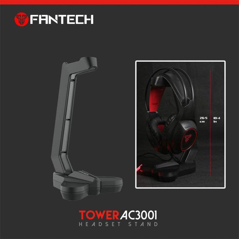 Fantech 5 In 1 PC Gaming Set, Rainbow Backlit Keyboard, 4800DPI RGB Programmable Mouse, Stereo Gaming Headphone with Sturdy Stand & Mousepad - Model: P51 - (Black)