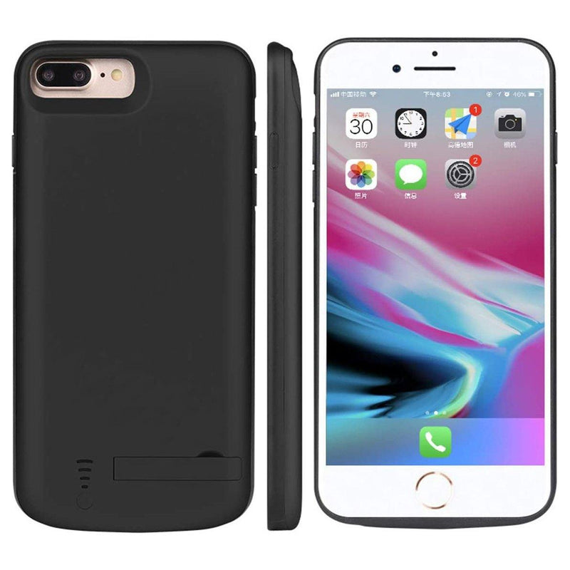 Fengxa iPhone 8 Plus / 7 Plus Battery Case,8000mAh Rechargeable Charge- (Black)