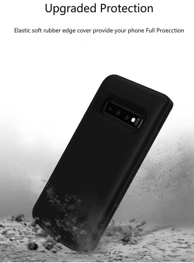 Fey-US 6000mAl Battery Case for Samsung S10 with USB Power Bank & Kickstand (Black)