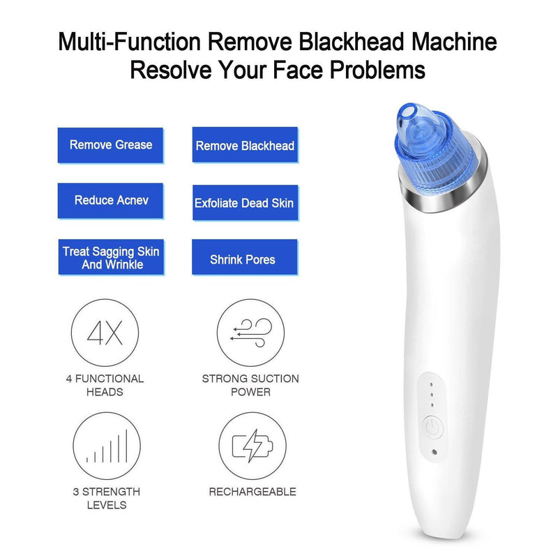 Fitnate USB Rechargeable Dining Blackhead Remover Skin Cleanser Model:JM-09 (White)