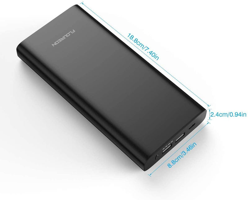 Floureon 26800mAh Type C PD 60W Power Bank, Quick Charge, USB Fast Charging - Model: C908-PD