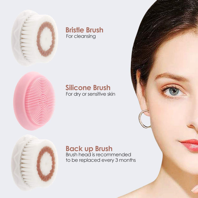 Fynllur Waterproof Wireless Rechargeable Facial Cleansing Brush - Model: KC-68 ( Rose Gold)