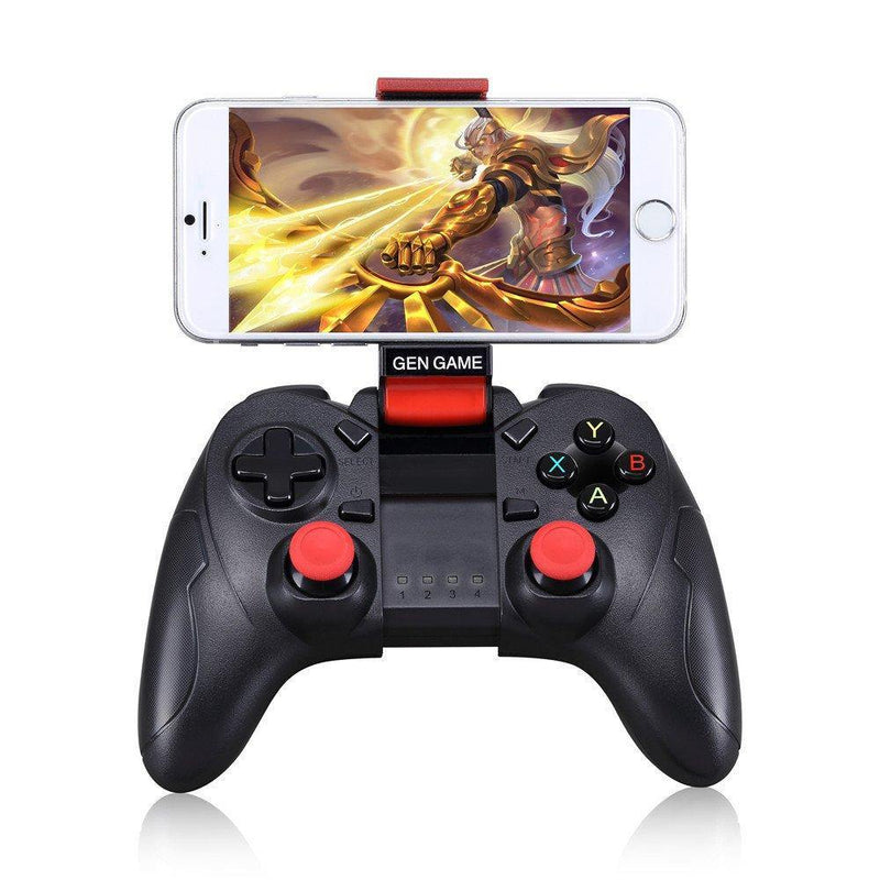 GEN GAME S6 Wireless BT Gamepad Joystick Game Controller for Android Model:S6 Deluxe (Black).