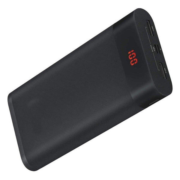 GACHI 26800mAh LED Display Power Bank with Dual USB Outputs 5V/2.4A (Auto) - Model: PB11 - (Black)