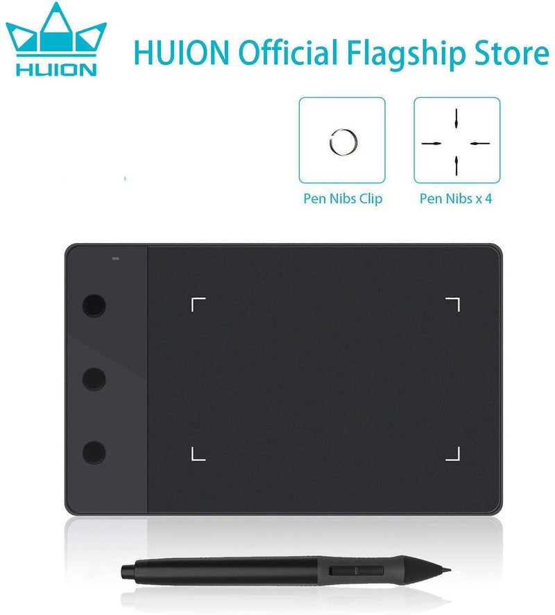 HUION H420 OSU Tablet Graphics Drawing Signature Pad Model: H240 (Black)