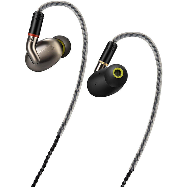 Hifi Walker Wired & Wireless Bluetooth Triple Driver Earphone-Model:A7 Air-(Silver/Black)
