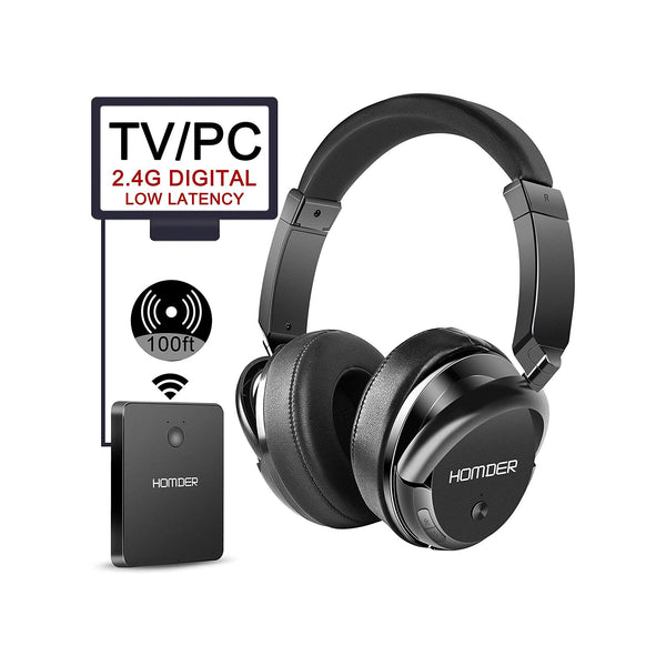 Homder Wireless Rechargeable TV Headphones with transmitter- KST-G1