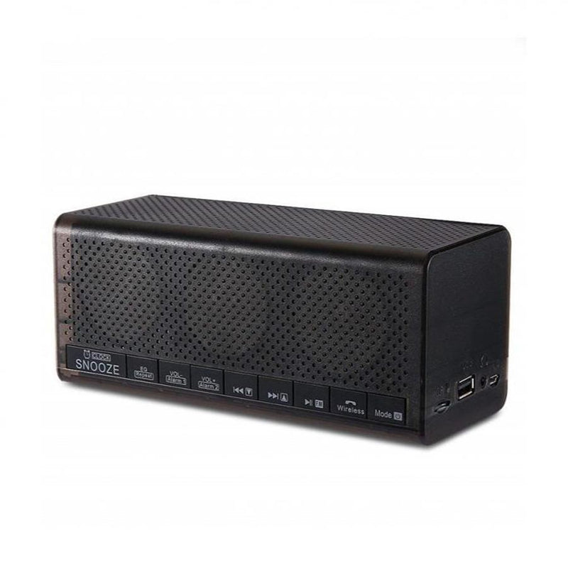 LEORY MX 20 Stereo Bluetooth Speaker With Digital Alarm Clock - (Black)