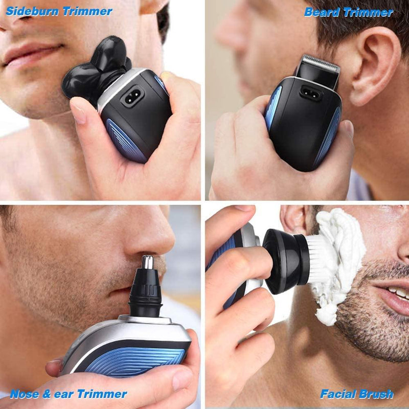 Homeasy 4in1 Rechargeable Electric Shavers- Model: LK-2800 (Blue)