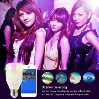 ICOCO TE Timer Switch Adjustable Brightness Remote Control Timing Smart Wifi Bulb - (White)