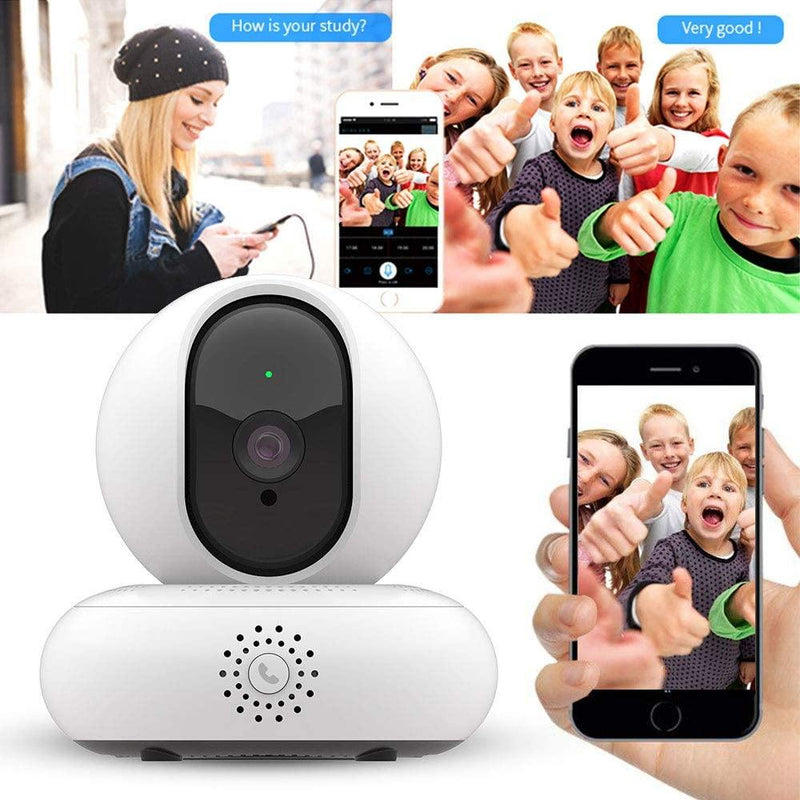 Wireless WIFI IP Camera & Baby Monitor With HD Night Vision - (White)