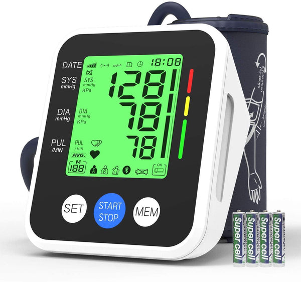 IVKEY Digital Automatic Measure Blood Pressure Monitor Upper Arm with Wide-Range Cuff for Home use, 3.5'' Color Backlight Display