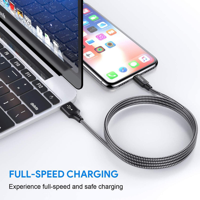 IWAVION Nylon Braided Lightning Charging Cable for iphone 4pack 3ft/1m - DealsnLots