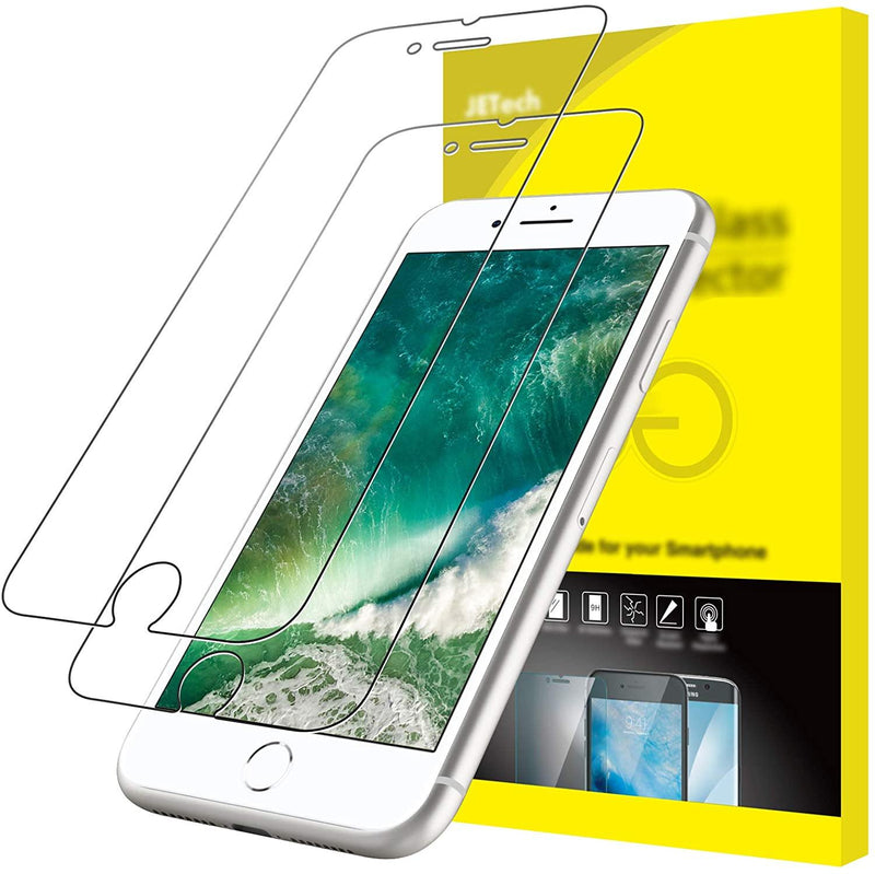 JETech Screen Protector for iPhone 8 Plus and 7 Plus, 5.5-Inch, Tempered Glass Film, 2-Pack-