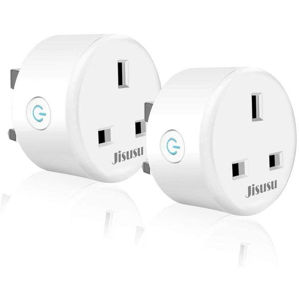 JISUSU UP111, Mini WiFi Wireless Socket, 2300W/10A [2 Pack] [White] - DealsnLots