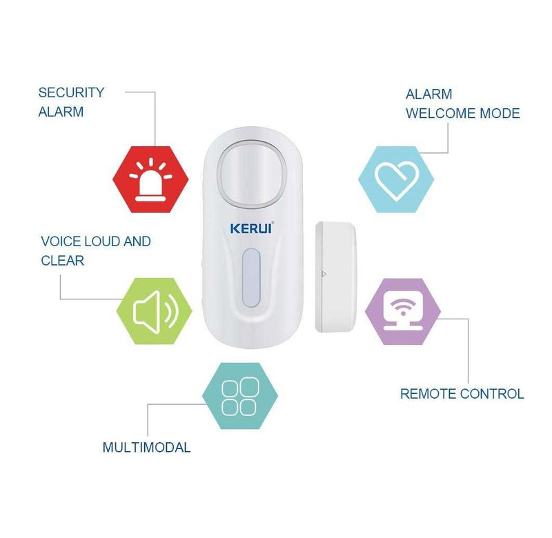 KERUI Door Window Alarm,D2 Remote (White)