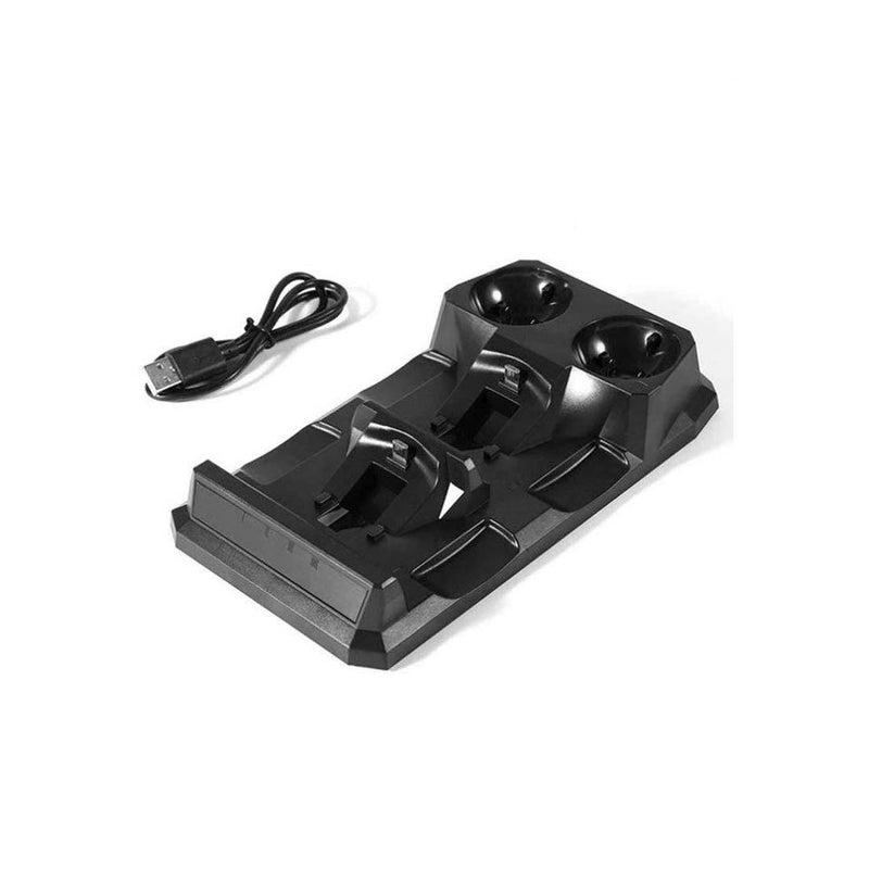 KJH Dual Charging Dock for Playstation 4 (Black)