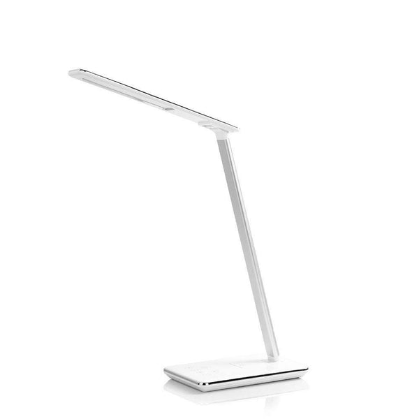 Enlody LED Desk Lamp with Wireless Charger, USB Charging Port - Model: WD102 - (White)