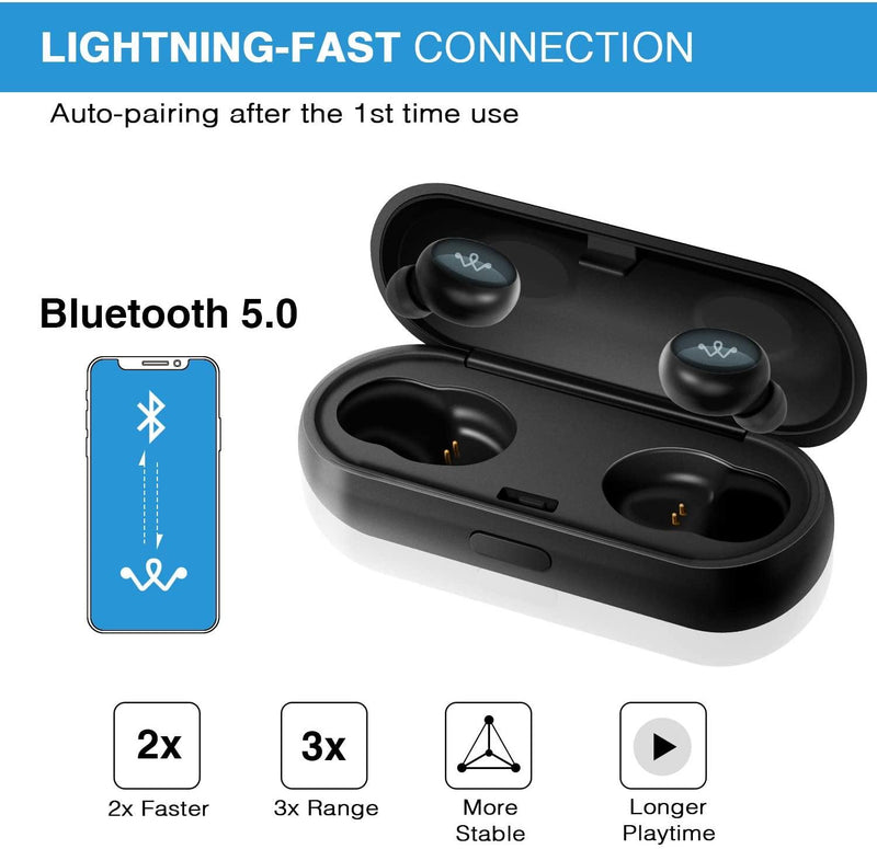 LEVIN H9 pro True Wireless Earbuds, Bluetooth 5.0, Deep Bass, HiFi 3D Stereo Sound,16H Playtime - Model: H9 pro
