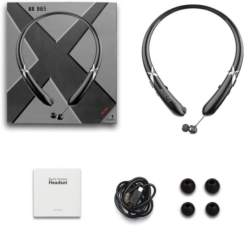 LSCHARM Bluetooth Wireless Sport Stereo Waterproof Neckband with Mic-Model:HX:965-(Black) - DealsnLots