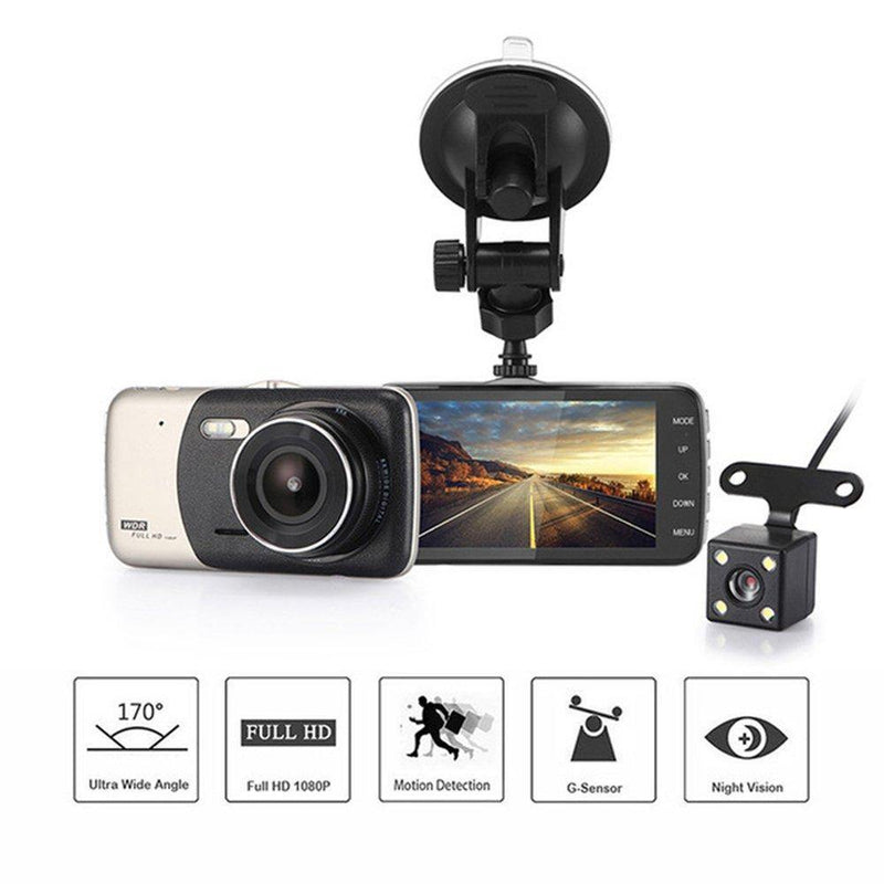 LUOER Car DVR Camera Night Vision Car Driving Recorder (Black-golden)