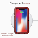 Lanhiem iPhone X - Xs Case, Heavy Duty Shockproof [Tough Armor] Metal Case-(Red)