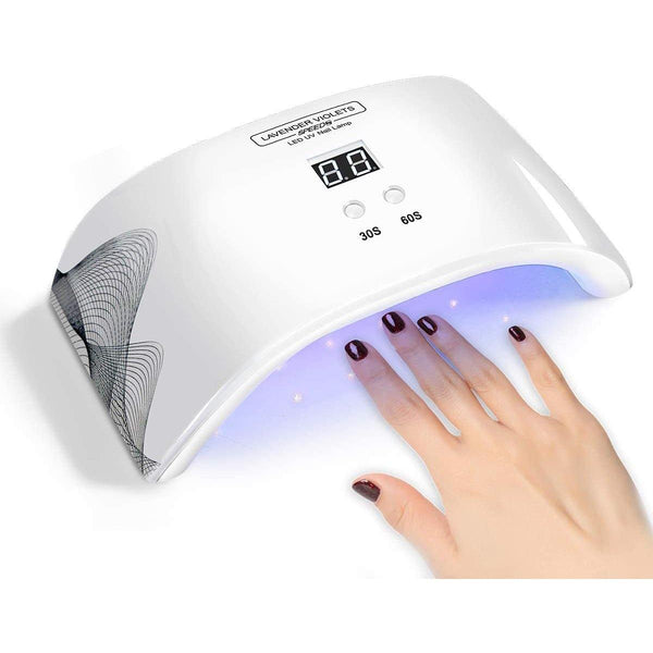 Lavender Violets 2 In 1 24W LED UV Nail Dryer Lamp- Model: Speed 8 (Whiite)