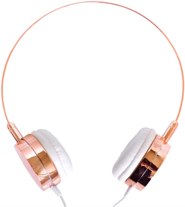 Lily England Wired Over Ear Headphones With Microphone-(Rose Gold)