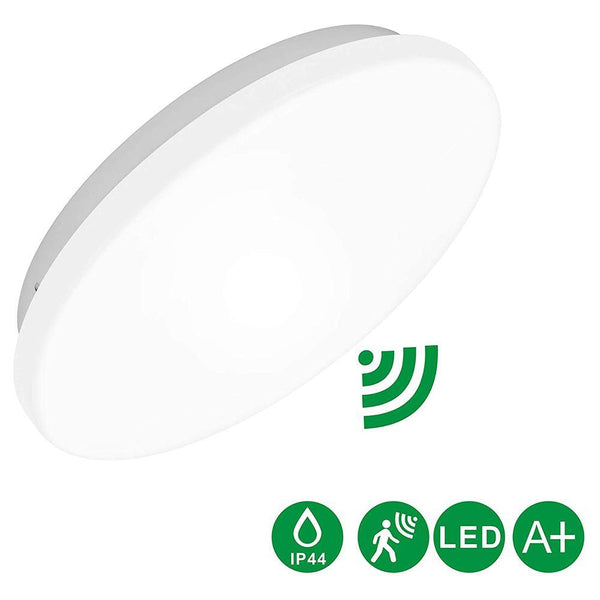 Lineway LED Ceiling Motion Sensor Microwave Radar Flush Light - (10Inch-12W-6000K) - DealsnLots