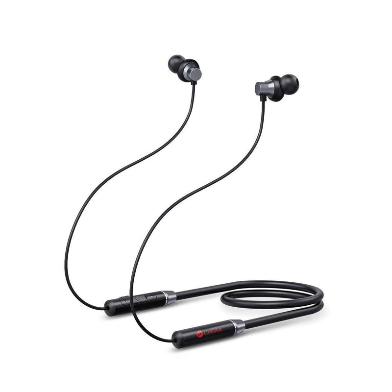 Linklike Bluetooth 5.0 Comfort-Fit Small Foldable Neckband Earphones-Model: Fly 8-(Black)
