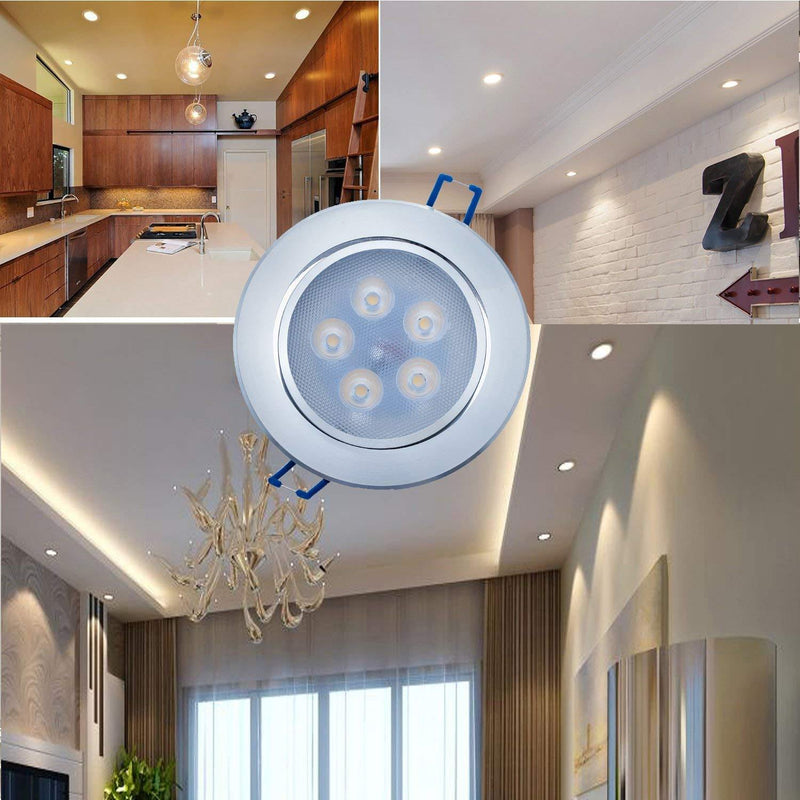 Liqoo 5W LED Recessed Ceiling Spot Light Pack of 1 - (Warm White)