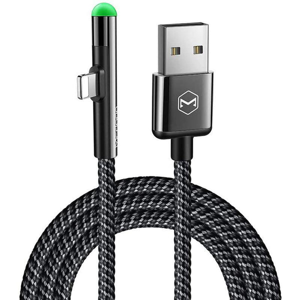 MCDODO Elbow Design Lightning Data Cable for Charger with Led Light (4ft 1.2m) - DealsnLots