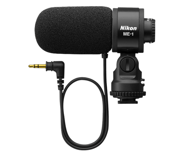 Nikon 27045 ME-1 Stereo Microphone Supplied with Wind Screen and Soft Case - (Black)