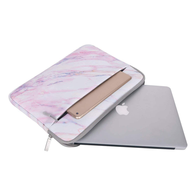 MOSISO Macbook Pro Laptop Marble Pattern Carrying Bag – 13 Inch – (Pink) - DealsnLots