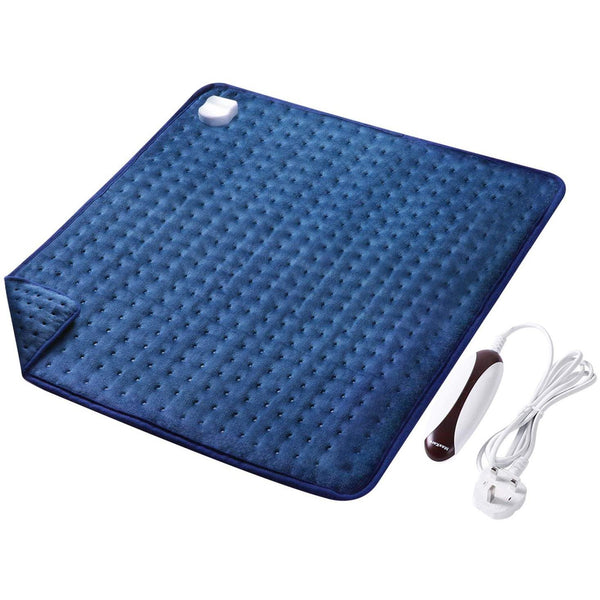 MaxKare Electric Heating Pad (50 x 60 cm) with Auto Shut Off and 6 Temperature Levels,100W- Model: HP08-002 (Blue) - DealsnLots