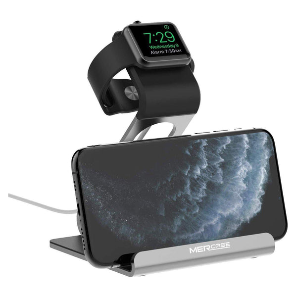 Mercase iWatch Stand, Phone Charging Station, Charger Holder - ModelM5128 - (Space Grey)