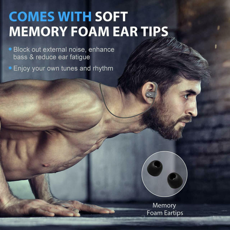 Mpow Sports Bluetooth Earphones – IPX7 Water Resistant – Model: MPBH088AH-(Silver)