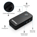 Mpow Bluetooth Receiver, Wireless Bluetooth 4.1 Car Adapter & Bluetooth Car Aux Adapter-Model:MPBH044AB-(Black)