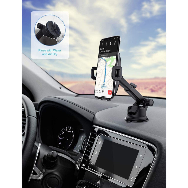 Mpow Dashboard & Windshield Car Phone Holder - (Black)
